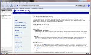 SeaMonkey - náhled