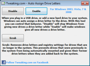 Auto Assign Drive Letters - náhled