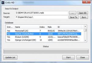 CinEx HD Utility - náhled