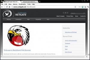 BlackHawk Web Browser - náhled