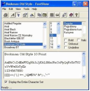 FontShow 2000 - náhled