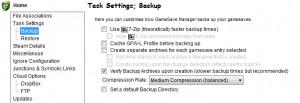 GameSave Manager - náhled