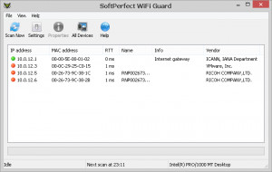 SoftPerfect WiFi Guard - náhled