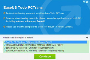 EaseUS Todo PCTrans Free - náhled
