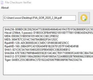 File Checksum Verifier - náhled