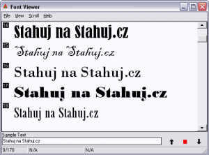 Font Viewer - náhled