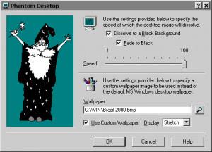 Phantom Desktop Screen Saver - náhled