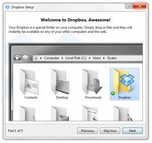 Dropbox - náhled