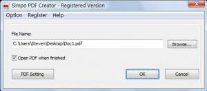 Simpo PDF Creator - náhled