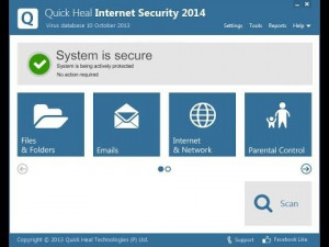 Quick Heal Internet Security - náhled