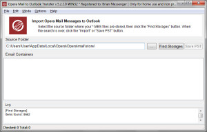 Opera Mail to Outlook Transfer - náhled