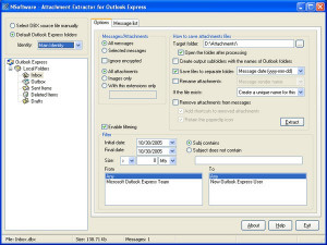 Attachment Extractor for Outlook Express - náhled