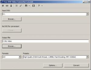 Free DVD Video Converter - náhled