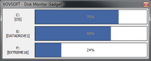 Disk Monitor Gadget - náhled