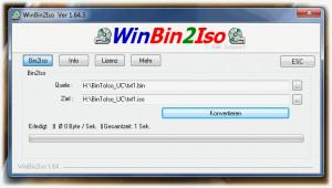 WinBin2Iso - náhled