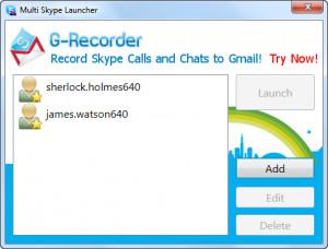Multi Skype Launcher - náhled