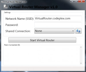 Virtual Router - náhled