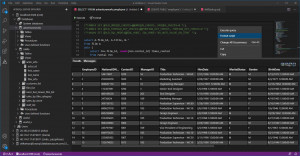 Database Power Tools for VS Code - náhled