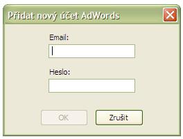 Přihlášení k účtu AdWords