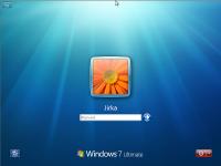 Windows 7 Beta 1 - přihlášení