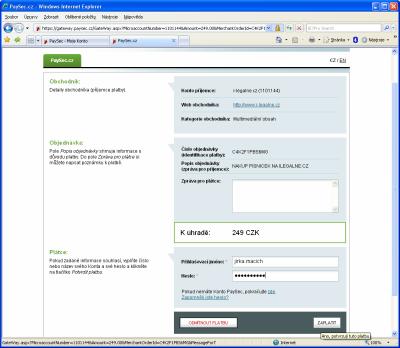 PaySec - platba 2