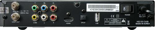 HS2100 CI USB zadní panel