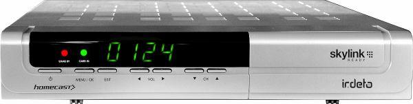 Homecast HS 3200CIIR přední panel