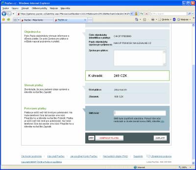 PaySec - platba 3