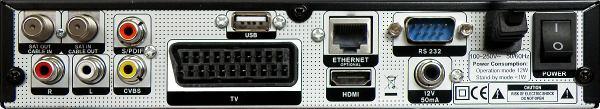 Opticum x403p HD zadní panel