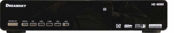 Dreamsky 8080HD přední panel
