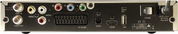 Homecast HS 3200CIIR zadní panel