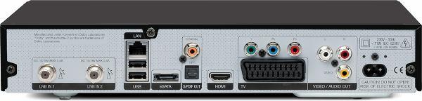 TechniSat Digit ISIO S1 zadní panel