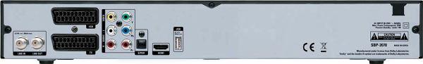 Topfield SBP-2070 zadní panel
