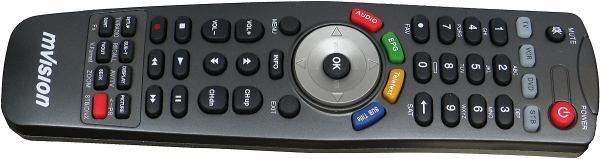 Set-top-box mVision HD-300 NET - dálkové ovládání