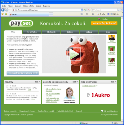 PaySec - titulka