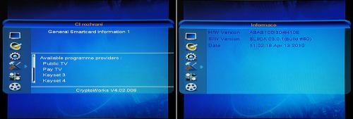 Comag SL90 HD CI rozhraní
