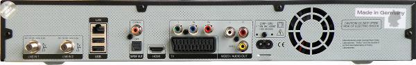 TechniSat DigiCorder ISIO S1 zadní panel