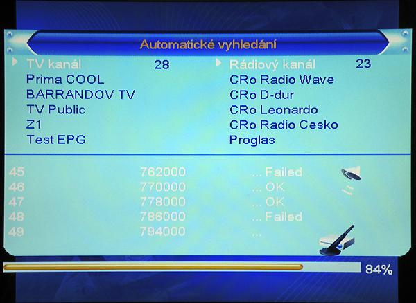 DI-WAY T-100HD RF automatické vyhledání