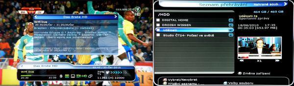 HD-BOX FS-9300 PVR - úložiště nahrávek