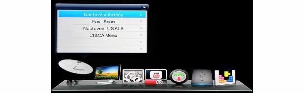 DreamSky NXP256HD hlavní menu