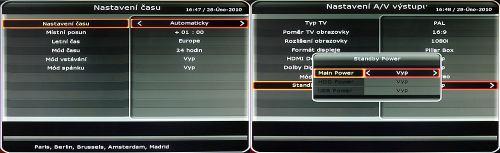 Octagon SF1008 HD - Inteligence čas AV výstup