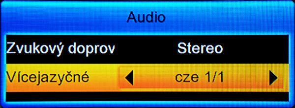 Amiko SHD-8900 Alien přepínání audiostop