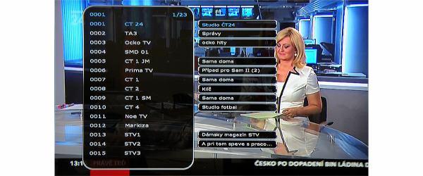 HD-BOX-FS-9105 seznam kanálů s EPG