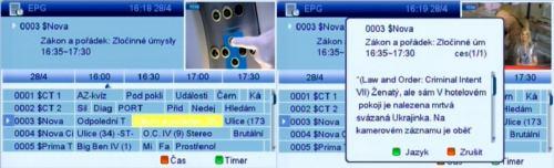 AL-2500HD CIUSB nahrávání EPG