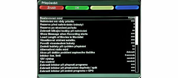 AB IPBox 9900 BB seznam nastavení