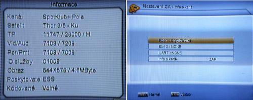 GI-S508 info o sled. kanalu a prist karte
