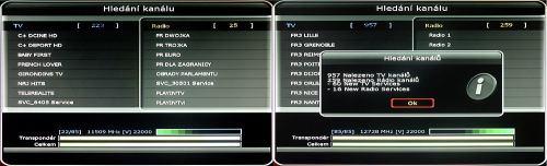 Octagon SF1008 HD - Inteligence hledání kanálů
