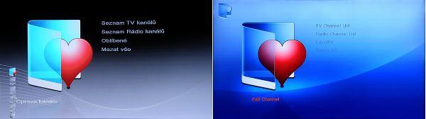 Dreamsky 8080HD software menu