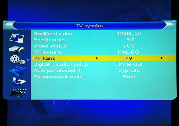 DI-WAY T-100HD nastavení RF kanálu
