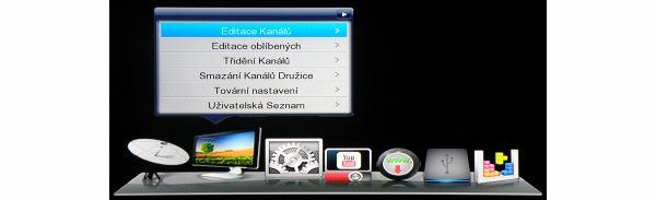 DreamSky NXP256HD hlavní menu 2